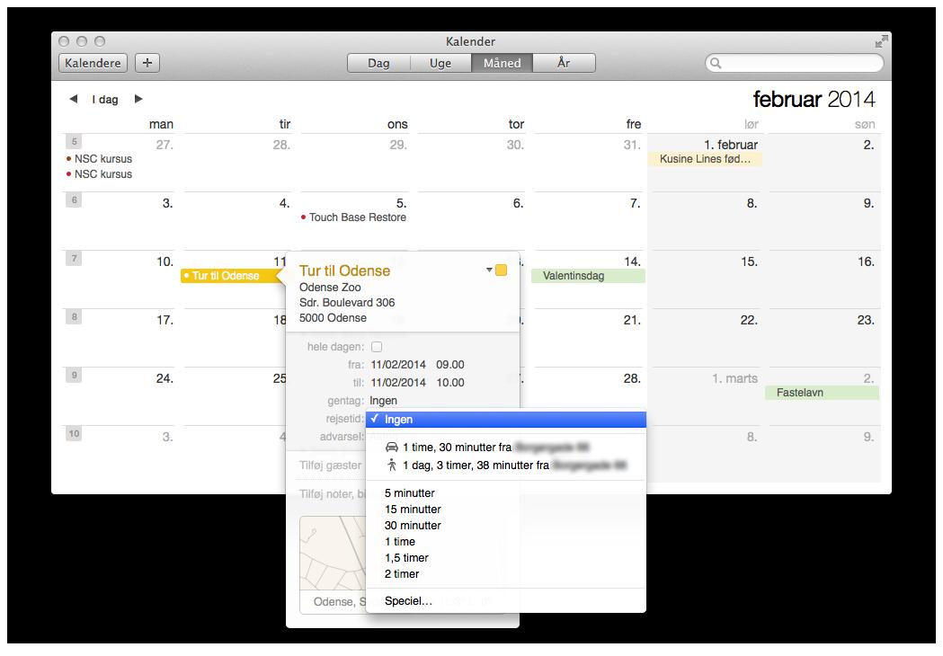 Mavericks-opdateret-kalender