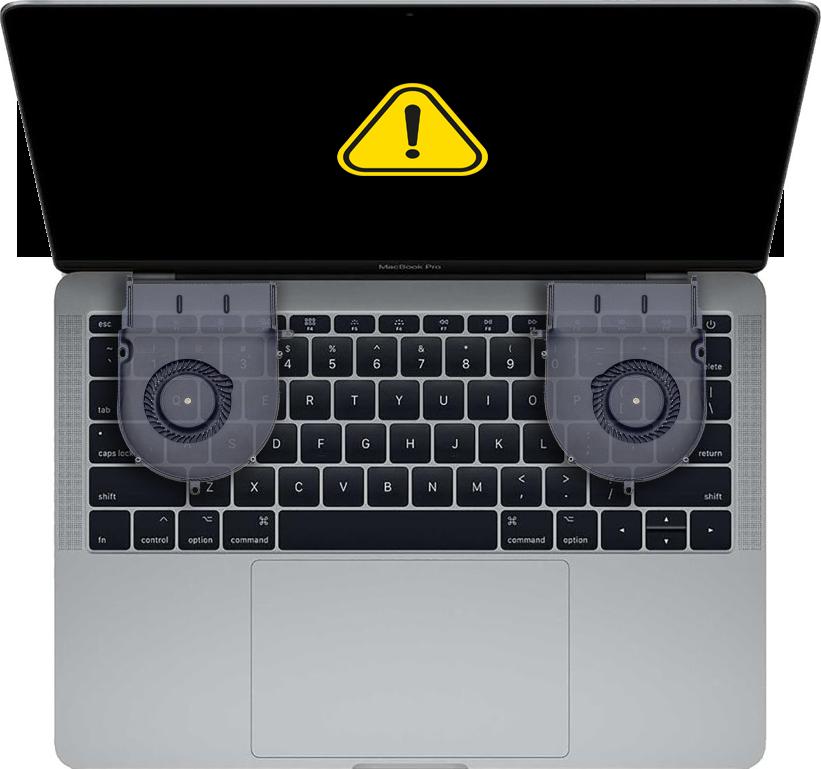 Udskiftning af blæser i MacBook
